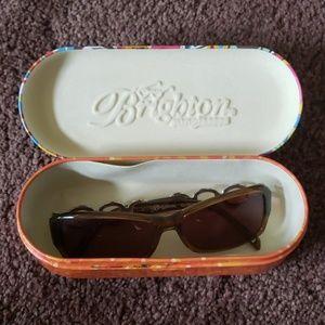 BRIGHTON brown detailed sunglasses